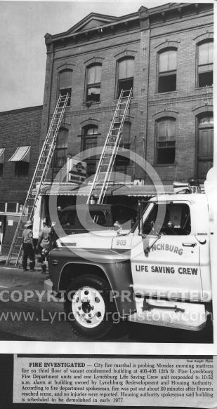 : Fire 403 12th st 1977