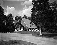 : Forest Hill Church with cloud, June 1966
