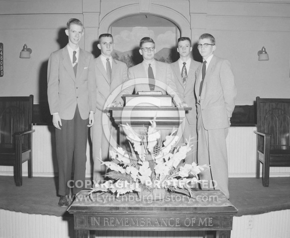: Youth Week, Bernie baldwin, John M, calvin Phelps, Stinson, John