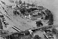 Flood 1985 Aerial View - Griffin Pipe Company