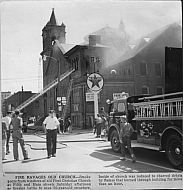 First Christian Church (Disciples of Christ) - Fire 1959