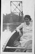 Lillian in Boat