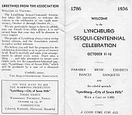 Sesqui-Centennial Celebration Program