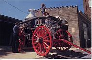 LYnchburg  Fire Station - Old Steam Fire Wagon