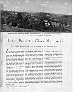 Horse Ford to Glass Memorial Article