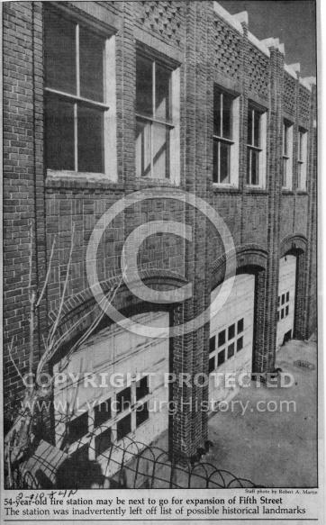 Lynchburg  Fire Station - Left Off Historical Lanmarks
