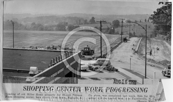 Pittman Plaza - Construction 1959