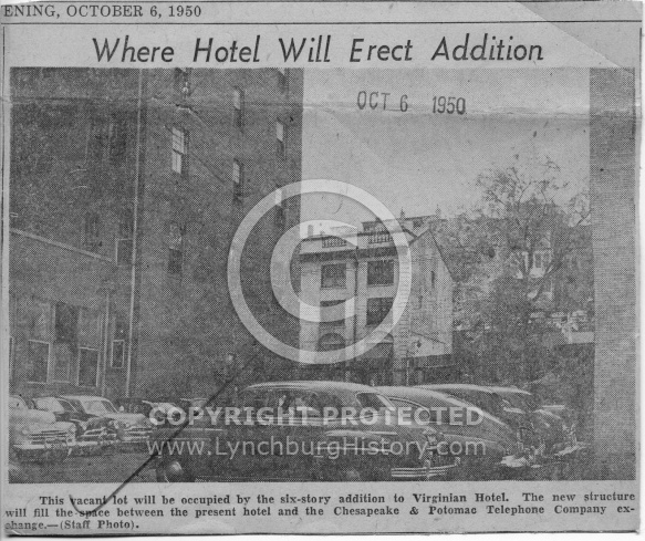 : Virginian Hotel addition site50