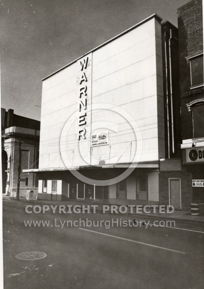 : Main St, 100 block, Warner theater