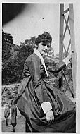 Woman on Railroad Trestle