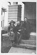 Ray and Adelaide and Older Woman on Porch.
