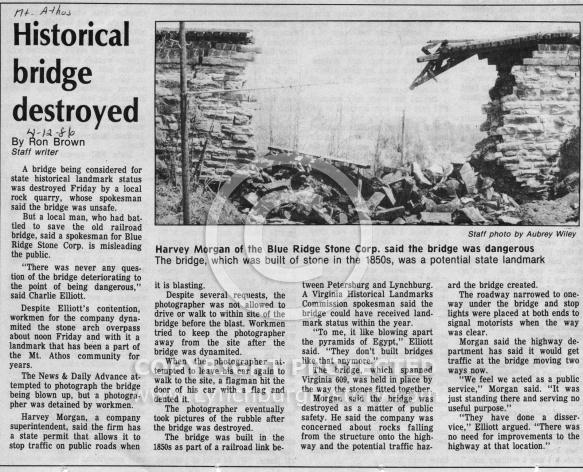 Mt Athos Bridge - News Clipping