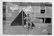 Black Man in Front of Pup Tent