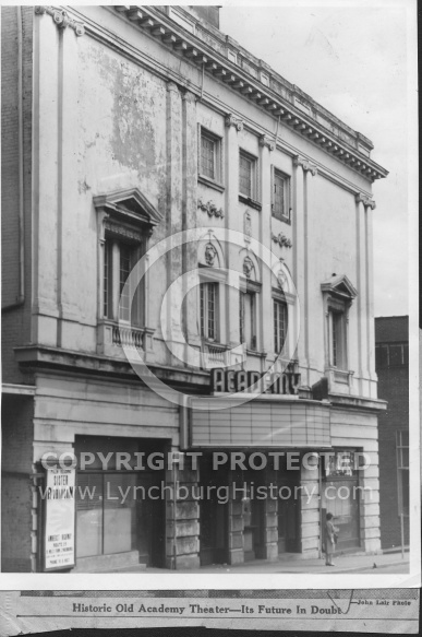 Front of Academy Theater - 1962