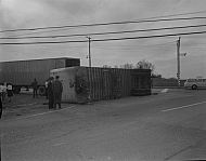 : truck (trailer) turnover, April 3, 1965