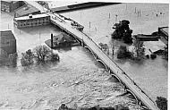 Flood 1985 - Aerial View of Viaduct