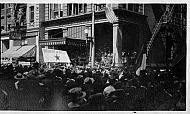Crowd in Front of the Carroll Hotel
