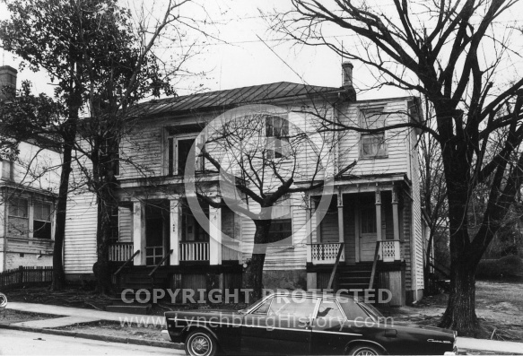 : Harrison St, 400 block now demolished