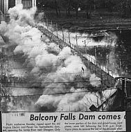 Balcony Falls Dam Demolition - 1974