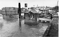Flood 1985 - Damaged Buildings Demolished Later