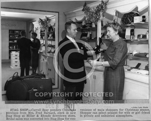 Miller & Rhoads -Interior Stag Shop
