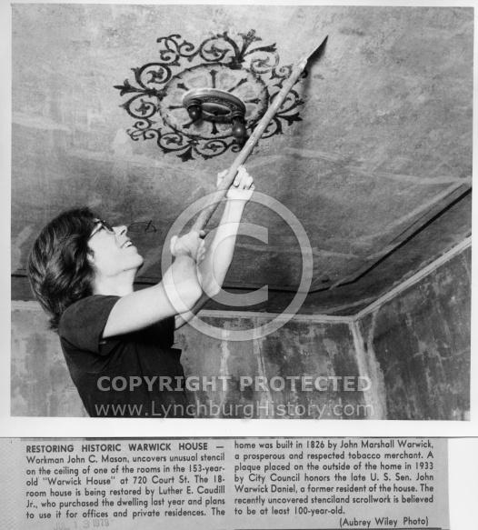 Warwick House - Stencil Ceiling