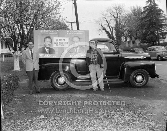 : Clarence Cooper & Wesley Gower (Truck with sign)
