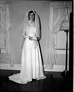 : Louis Arthur Wedding Gown, Aug 22 1951