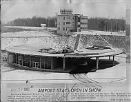 : Airport terminal snow