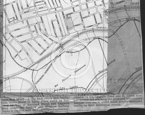 : Liggates rd extension 1960