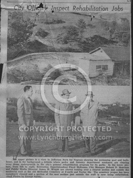 : Negro pool rehab 1952
