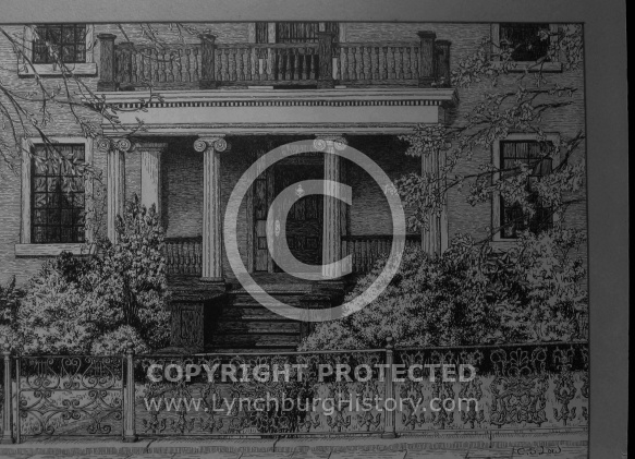 : OLD ADAMS HOUSE, DRAWING, CABELL STREET