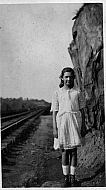 Girl on Railroad Tracks