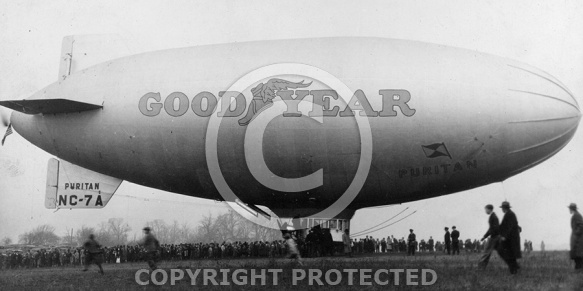 Goodyear Blimp on Waugh Field, Lynchburg, 1930