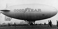 Goodyear Blimp on Waugh Field, Lynchburg, 1930