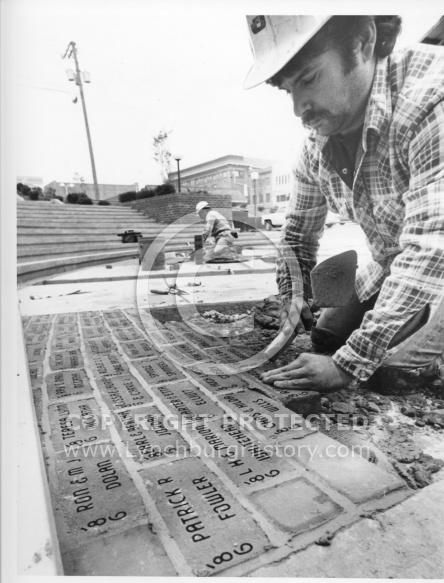 Lynchburg City Market - Bricklayers 1986
