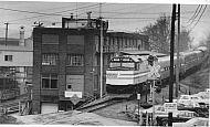 Amtrak Train Passing Lynchburg Foundry - 1988