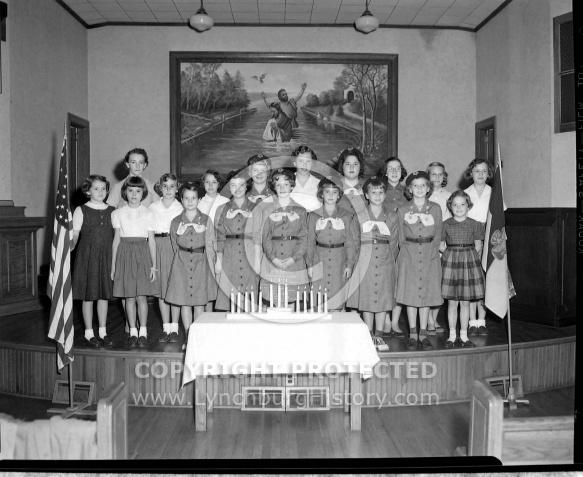 : GIRL SCOUTS, SANDY BOTTOM CHURCH, SEPTEMBER 29