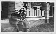 Ray With a Woman on Porch