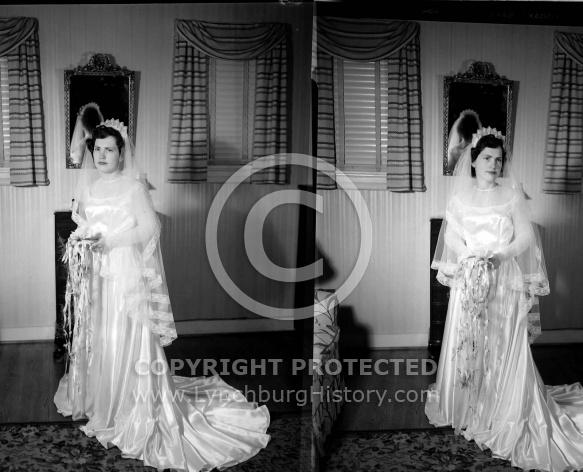 : Margie Cornell ? Wedding Gown, March 13 1951