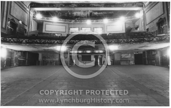 Academy Theater Interior Front Wall - 1985