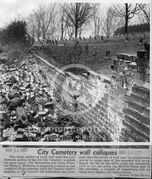 Old City Cemetery - Wall Collapses