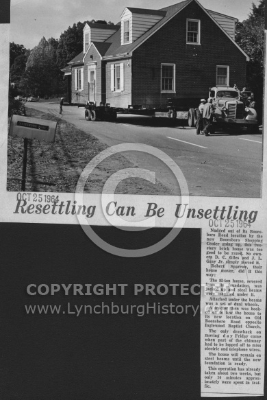 Boonsboro Shop Center - Moving House October 25, 1964