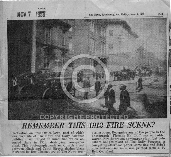 The News - Downtown Fire 1913