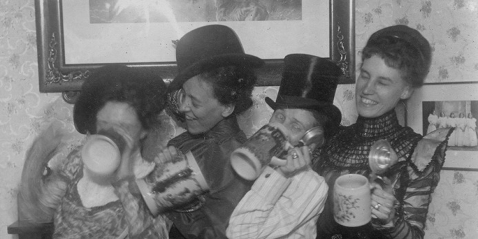 Girls Drinking Beer