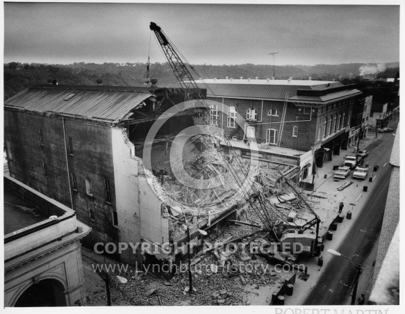 Warner Theater Demolition - October 1982
