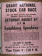: Lynchburg speedway poster jg