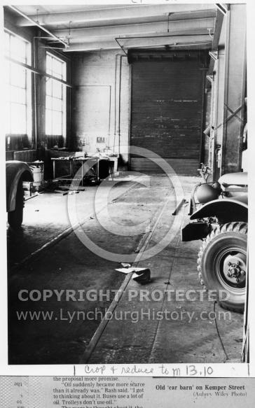 : Trolley barn