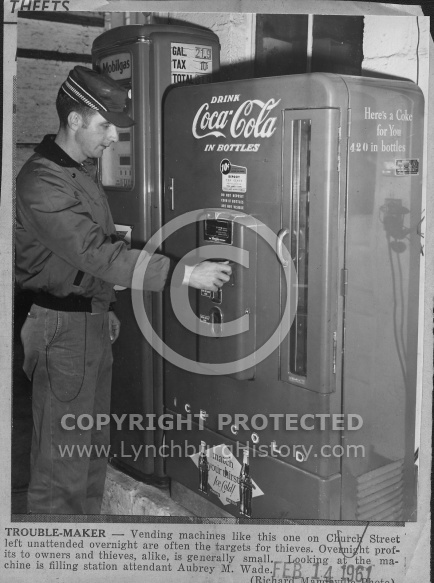 : Coke machine gas station church