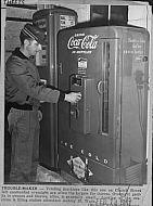 : Coke machine gas station church